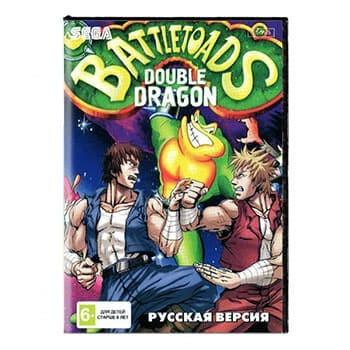 Картридж для Сеги BATTLETOADS & DOUBLE DRAGON