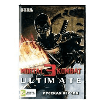 Картридж для Сеги MORTAL KOMBAT 3 ULTIMATE