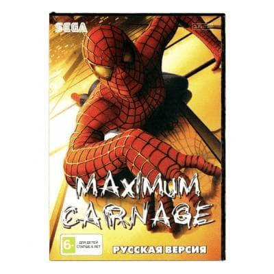 Картридж для Сеги Separation Anxiety (Maximum Carnage)